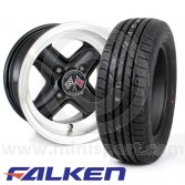 "6"" x 12"" Black Revolution Alloys - Falken ZE914 Package"