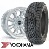 "WTP7X13KIT1 7"" x 13"" silver Ultralite alloy wheel and Yokohama A539 tyre package"