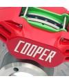 Reflective Cooper logo on the Caliper