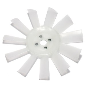 11 Blade Plastic Fan - White