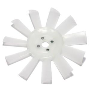 11 Blade Plastic Fan - White