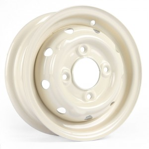 "Cooper S 3.5"" x 10"" Steel Wheel - Old English White"