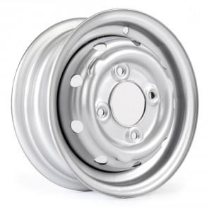 "Cooper S 3.5"" x 10"" Steel Wheel - Silver"