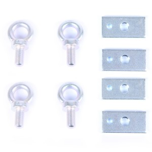 Harness Eye Bolts with Plates - Set of 4