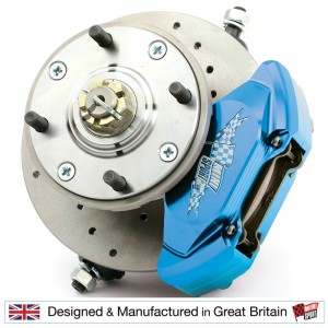 7.5'' Mini Disc Brake Assemblies - 4 Pot Alloy Calipers