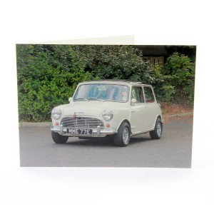 Greetings Card with Austin Mini Cooper S Image