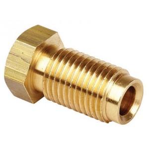 Brake Pipe Male Brass Fittings 3/8 x 24 UNF 3/16