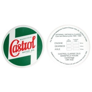 Castrol Windscreen Service Sticker