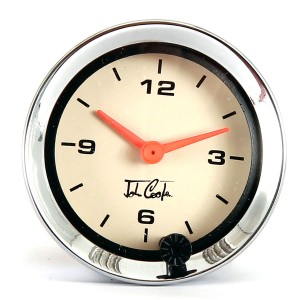 John Cooper Analogue Clock - Magnolia Face and Chrome Ring