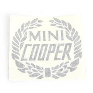 Mini Cooper Wreath Laurel Decal - Black
