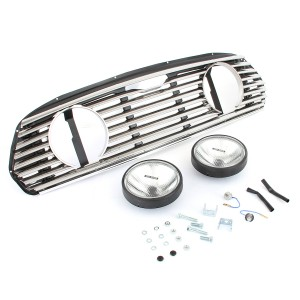 Rover Mini Cooper Grille inc Spotlamp Holes and Spotlamps - External Release