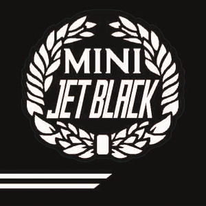 Cooper Look-a-Like Decal Kit - Jet Black - White