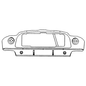 Front Panel Assembly - Mini Cooper S Mk2-3 '64-'66