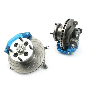 7.9'' Mini Vented Disc Brake Assemblies - 4 Pot Alloy Calipers