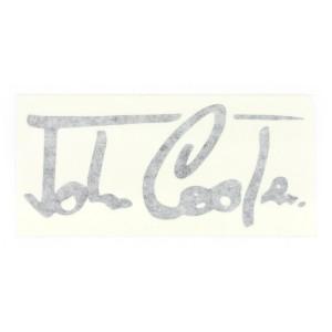 Cooper Signature Decal - Black