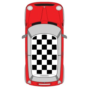 Roof Chequer Kit - Large Chequer Decal - Black