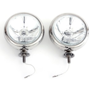 Classic Stainless Steel Driving Lamps - pair
