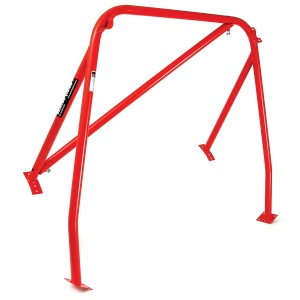 RED - LHD detachable diagonal Rear Roll Cage