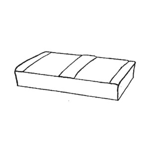 Rear Seat Base Foam Cushion - Mini Traveller - Clubman Estate - 67-80