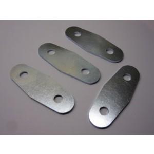 Door Hinge Plates  - set 4 - Plated