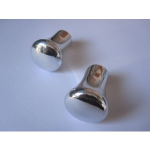 Polished Alloy Seat Pulls  - pair