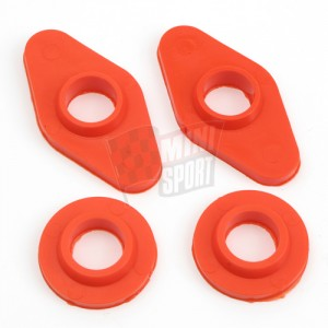 Poly Top Washer & Bush Kit Red