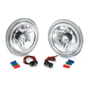 Mini Headlights Crystal style with Angel Eye