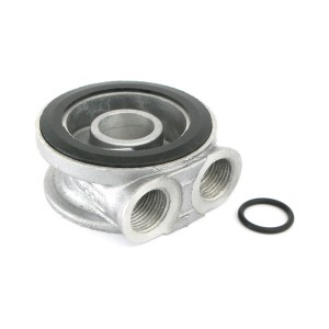 Remote Oil Filter Head - Sandwich Plate - 3/4 UNF - pre 1997