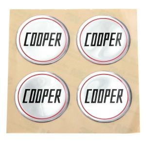 Cooper Silver Wheel Badges
