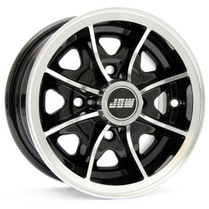 5 x 10 Dunlop D1 Alloy Wheel - Black with polished rim