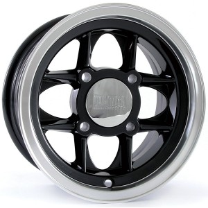 5 x 10 Mamba Wheel - Black/Polished Rim