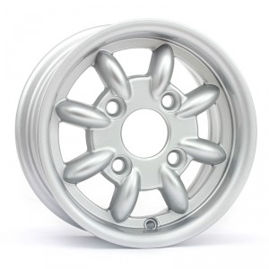 4.5 x 10 Minilight Wheel - Silver - Drum Brakes