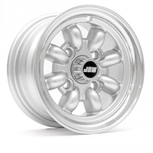 5 x 10 Minilight Wheel - Silver/Polished Rim