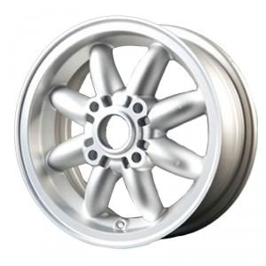 5 x 12 Rose Petal Wheel - Silver