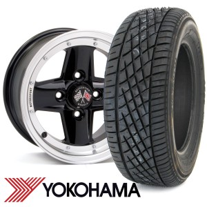"7"" x 13"" Revolution Black Modular - Polished Rim - Yoko A539 Package"