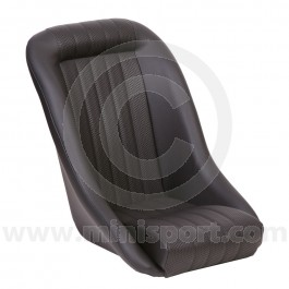 Mini Classic - Black Soft Grain Vinyl outers/Black Basketweave centres