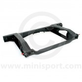 40-10-008PC Mini rear subframe for all dry suspension models up to 1991, finished in black powder coating for extra protection from rust and corrosion.
