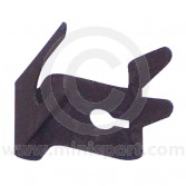 Choke cable retaining clip that fits to the Mini HS type carburettor abutment bracket.
