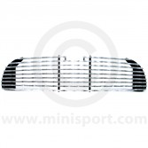 14A7299 Austin Mini Mk1 grille finished in chrome with a wavy pattern in the grille slats.