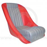 Cobra Classic Seat - Red/Grey Piping