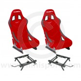 Cobra Monaco Pro Seat Package - Red