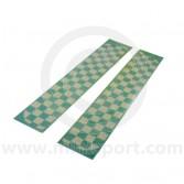 DECBOSCHEQW Mini Boot Stripes - White Chequer Cut