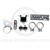 "FKT04A Heavy duty fitting kit for Maniflow 1 7/8"" bore single or twin box, side exit exhaust systems."