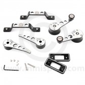 Cooper Alloy Billet Door Furniture Kit - Black