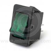 Rocker Switches - On/Off - Green illuminated