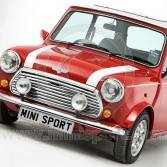 Mini Bonnet Stripes - White