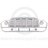 MCR31.18.00.00 Front panel with with integral grill for Mini Van and Mini Pick-up models Mk1 '60-'64
