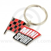 Mini Sport Flying Flag Key Ring