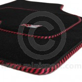 MSL5002 Mini Mini Sport Luxury Carpet Mat Set With Black & Red Binding