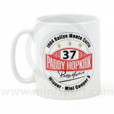 PH34.050 Paddy Hopkirk Mini Mug showing the Col Du Turini, as stage on the famous Rallye Monte Carlo.
